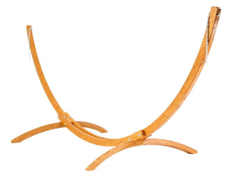 Houten hangmat standaard Bow vooraanzicht