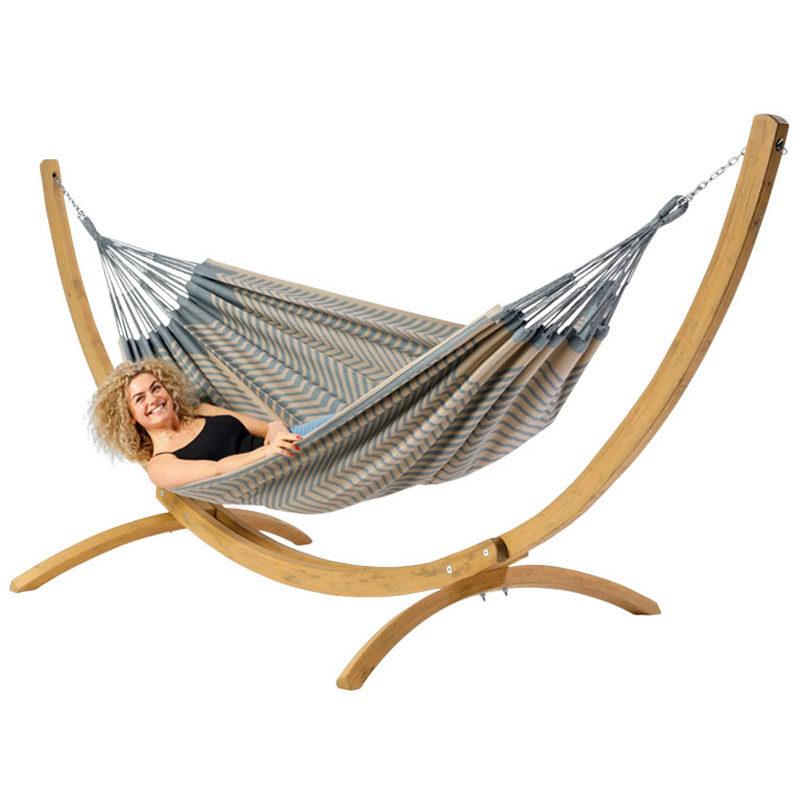 Tweepersoons hangmat Sounds of Australia met houten standaard