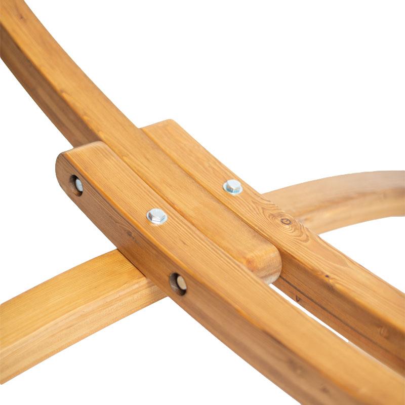 Houten hangmat standaard Elipso detailfoto van voet