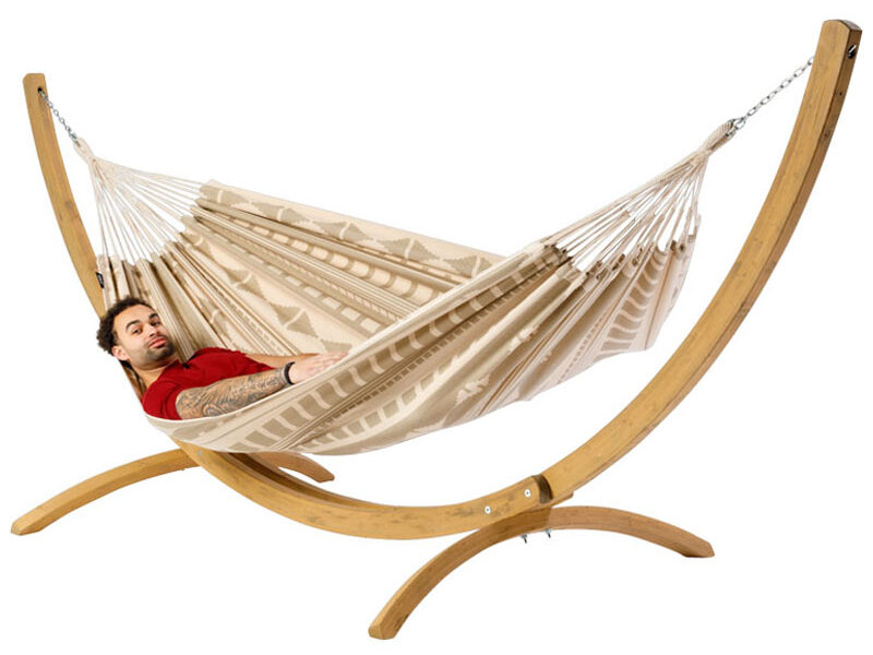 Hangmat Ibiza Beach met houten standaard