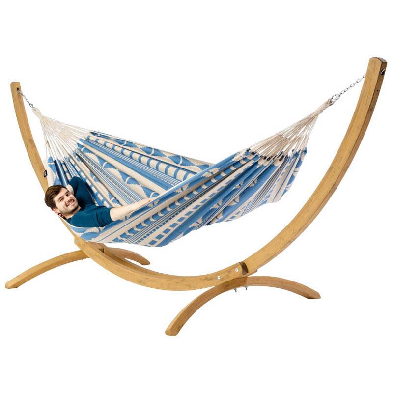 Hangmat Ibiza Sea met houten standaard