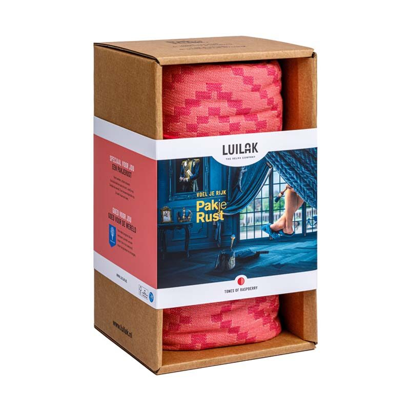 Eenpersoons hangmat tones of raspberry pakjerust